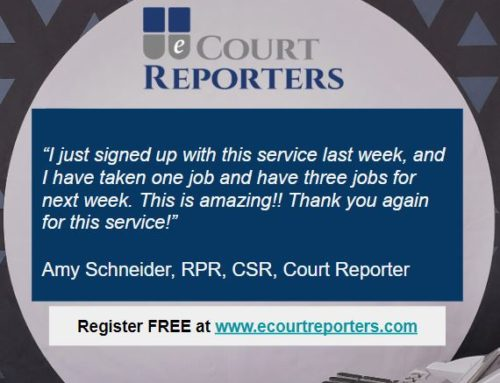 Another Happy Court Reporter!